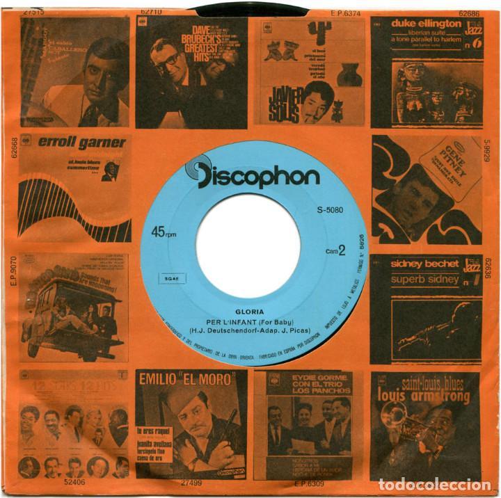 Discos de vinilo: Glòria - I Amb Tu (II Festival Internacional De Barcelona) - Sg Spain 1969 - Discophon S-5080 - Foto 8 - 112248183