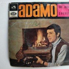 Discos de vinilo: CARATULA ADAMO, UNE MERCHE DE CHEVEUX, EMI. OJO SOLO CARÁTULA NO VINILO. Lote 112263931