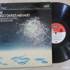 Discos de vinilo: ERIK SATIE Y SU AMIGO DARIUS MILHAUD BERNARD HERRMANN LP VINYL MADE IN SPAIN 1975. Lote 112312275