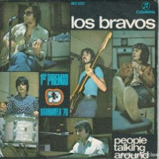 Discos de vinilo: LOS BRAVOS - PEOPLE TALKING (SINGLE COLUMBIA 1970). Lote 112316879