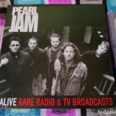 Discos de vinilo: PEARL JAM - ALIVE RARE RADIO & TV BROADCASTS - LP - BAD JOKER 2016 EU LIMITED 500 COPIAS - NUEVO. Lote 112320187