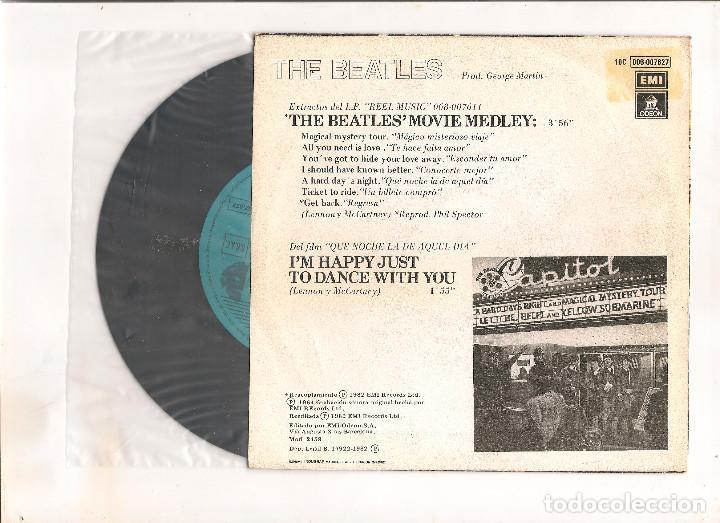Discos de vinilo: THE BEATLES MOVIE MEDLEY EMI ODEON 1982 EDICION ESPAÑOLA - Foto 2 - 112323259