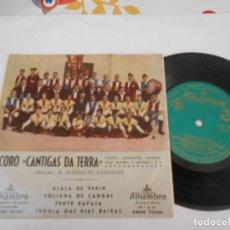 Discos de vinilo: CORO CANTIGAS DA TERRA-EP ALALA DE VERIN + 3. Lote 112353879