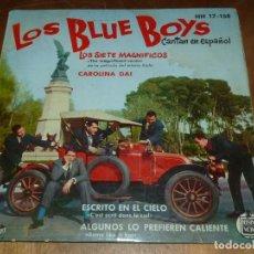 Discos de vinilo: RARO LOS BLUE BOYS LOS SIETE MAGNIFICOS + 3 (EP DE 4 CANCIONES) HISPAVOX ESPAÑA 1961 ORIGINAL. Lote 112362691