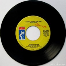 Discos de vinilo: JOHNNIE TAYLOR - I DON'T WANNA LOSE YOU / PARTY LIFE - SINGLE STAX 1971 USA BPY. Lote 112363531