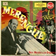 Discos de vinilo: NORO MORALES Y SU ORQUESTA - MERENGUE A LA NORO - EP SPAIN - RCA 3-20136. Lote 112369683