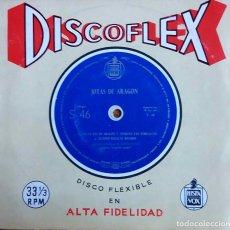 Discos de vinilo: EL PUEBLO ESPAÑOL, JOTAS DE ARAGÓN. SUENA LA VOZ DE ARAGÓN. SINGLE FLEXIBLE 33 1/3. Lote 112390775