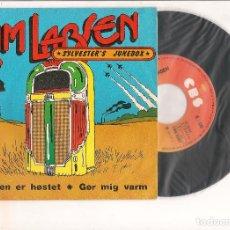 Discos de vinilo: KIM LARSEN MARKEN ER HOSTET CBS 1975. Lote 112391931