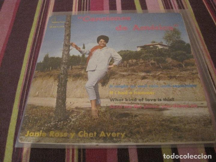 EP-CANCIONES DE AMERICA IBEROFON 1175 SPAIN 1963 CHET AVERY JANIE ROSS (Música - Discos de Vinilo - EPs - Rock & Roll)