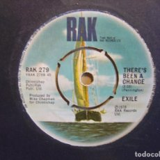 Discos de vinilo: SINGLE INGLES 1978 - EXILE - KISS YOU ALL OVER + THERES BEEN A CHANGE - RAK. Lote 112430911