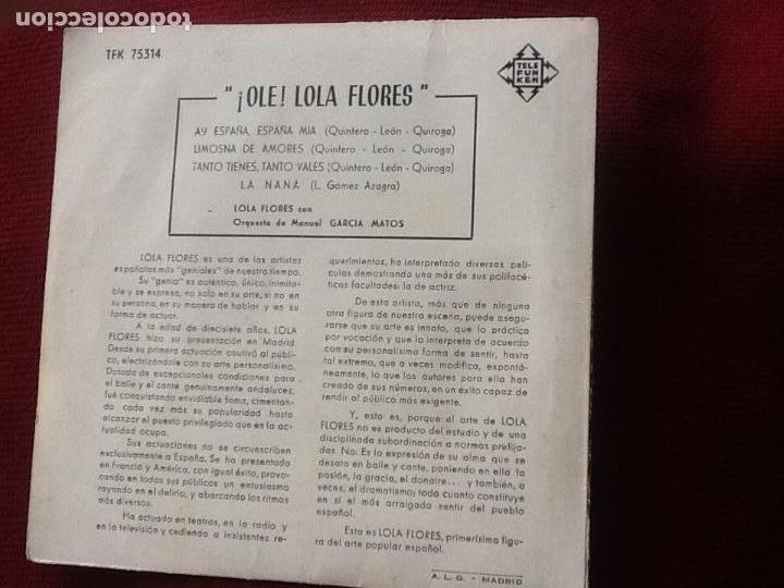 Discos de vinilo: Lola flores. ¡Ole! Lola Flores. - Foto 3 - 112443839