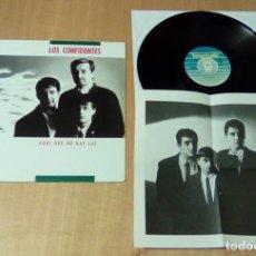 Discos de vinilo: LOS CONFIDENTES - AQUI QUE NO HAY LUZ (LP 1990, FONOMUSIC 88.2040). Lote 112459695