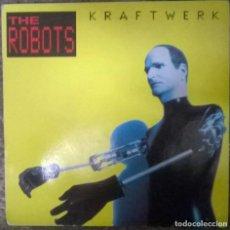 Discos de vinilo: KRAFTWERK. THE ROBOTS/ ROBOTRONIK. EMI, UK 1991 SINGLE. Lote 112467811