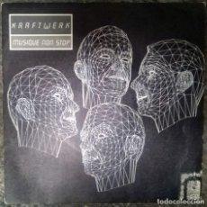 Discos de vinilo: KRAFTWERK. MUSIQUE NON STOP (A Y B). EMI, SPAIN 1986 (SINGLE PROMOCIONAL). Lote 112468051