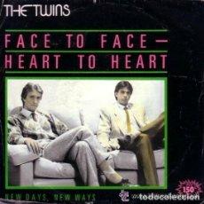 Discos de vinilo: TWINS - FACE TO FACE - HEART TO HEART - SINGLE PROMO . Lote 112480019