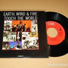 Discos de vinilo: EARTH WIND AND FIRE - TOUCH THE WORLD - SINGLE - 1988. Lote 112483199