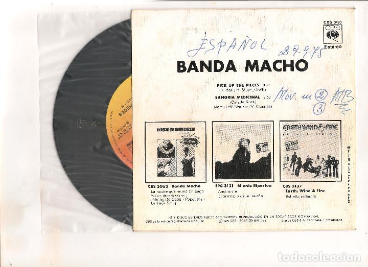 Discos de vinilo: BANDA MACHO PICK UP THE PIECES CBS 1975 - Foto 2 - 112485251