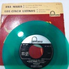 Discos de vinilo: ANA MARIA Y LOS CINCO LATINOS: LA CANCION DEL HULA-HOOP Y TRES MAS ( VINILO AZUL). Lote 112486583