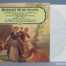 Discos de vinilo: LP. CONCIERTO PARA PIANO EN LA MENOR, OP. 54. ROBERT SCHUMANN. Lote 112487879