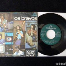 Discos de vinilo: LOS BRAVOS. PEOPLE TALKING ROUND, EVERY DOG HAS HIS DAY. SINGLE COLUMBIA, 1970. Lote 112512247