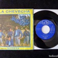 Discos de vinilo: LOS JAVALOYAS. LA CHERVECHA, QUISIERA. SINGLE EMI, 1969. Lote 112513031