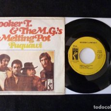 Discos de vinilo: BOOKER T. & THE M.G.'S. MELTING POT, FUQUAWI. SINGLE STAX, 1971. Lote 112517019