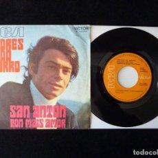 Discos de vinilo: ANDRES DO BARRO. SANT ANTON, CON MAIS AMOR. SINGLE RCA VICTOR, 1970. Lote 112517515
