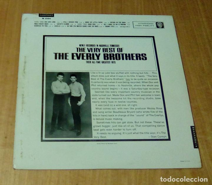 Discos de vinilo: THE EVERLY BROTHERS - The Very Best Of The Everly Brothers (LP 1964, Warner Bros. W 1554) - Foto 2 - 112522391