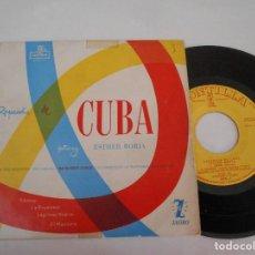 Discos de vinilo: ESTHER BORJA EP RAPSODIA DE CUBA -SIBONEY- LAGRIMAS NEGRAS. Lote 112543587