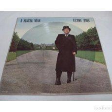 Discos de vinilo: ELTON JOHN - A SINGLE MAN 1978, LIMT EDT PICTURE DISC (LP) !! COLLECTORS !! RARA ORG UK, TODO EXC. Lote 112555851