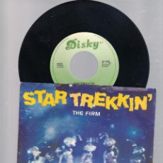 Discos de vinilo: THE FIRM - STAR TREKKIN + DUB TREK (SINGLE 7' 1987). Lote 112564599