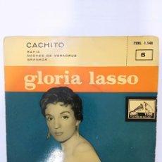 Discos de vinilo: GLORIA LASSO: CACHITO / BAHIA / NOCHES DE VERACRUZ / GRANADA. Lote 112585591