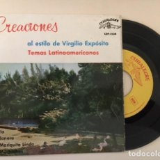 Discos de vinilo: CREACIONES AL ESTILO DE VIRGILIO EXPOSITO VOL 3 / EP CUBALEGRE CEP-1536 - 1963. Lote 112616975