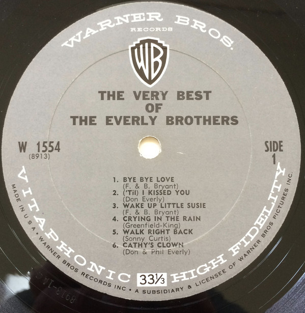 Discos de vinilo: THE EVERLY BROTHERS - The Very Best Of The Everly Brothers (LP 1964, Warner Bros. W 1554) - Foto 4 - 112522391