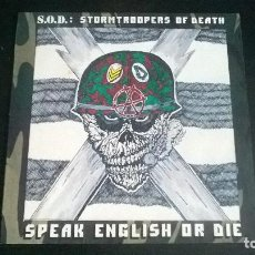 Discos de vinilo: S.O.D. STORMTROOPERS OF DEATH: SPEAK ENGLISH OR DIE - LP (1985). Lote 112619755