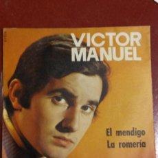Discos de vinilo: BJS. VICTOR MANUEL. EL MENDIGO. DISCO DE VINILO. SINGLE,. Lote 112620107