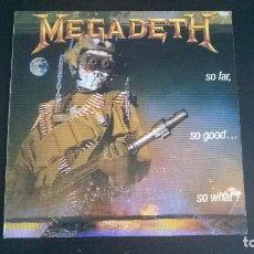 Discos de vinilo: MEGADETH: SO FAR, SO GOOD... SO WHAT! - LP (1988). Lote 112621739