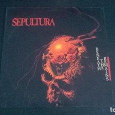 Discos de vinilo: SEPULTURA: BENEATH THE REMAINS - LP (1989). Lote 112622335