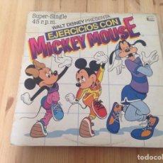 Discos de vinilo: WALT DISNEY PRESENTA MICKEY MOUSE -- EJERCICIOS CON MICKEY MOUSE -MAXI-. Lote 112627539