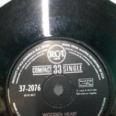 Discos de vinilo: SINGLE ** ELVIS PRESLEY ** WOODEN HEART ** COVER / SIN PORTADA ** SINGLE/ VERY GOOD/ VG+ ** 1961. Lote 112629859