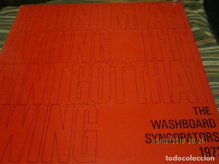 THE WASHBOARD SYNCOPATORS - 1973 LP - ORIGINAL INGLES - PRENSAJE PRIVADO . 1973 STEREO - (Música - Discos - LP Vinilo - Jazz, Jazz-Rock, Blues y R&B)