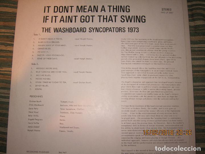 Discos de vinilo: THE WASHBOARD SYNCOPATORS - 1973 LP - ORIGINAL INGLES - PRENSAJE PRIVADO . 1973 STEREO - - Foto 2 - 112632043