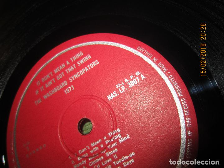 Discos de vinilo: THE WASHBOARD SYNCOPATORS - 1973 LP - ORIGINAL INGLES - PRENSAJE PRIVADO . 1973 STEREO - - Foto 11 - 112632043