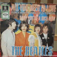 Discos de vinilo: BEATLES - ALL YOU NEED IS LOVE- SINGLE - ORIGINAL- ALEMANIA - PAUL MCCARTNEY- JOHN LENNON. Lote 112648143