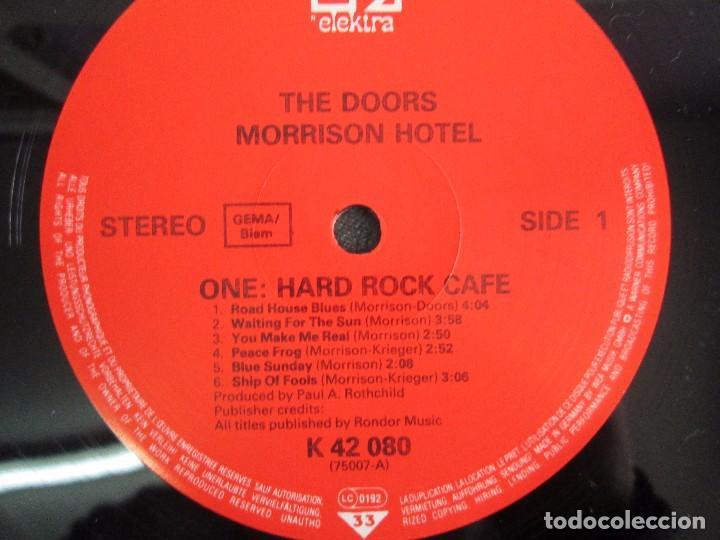 Discos de vinilo: THE DOORS. MORRISON HOTEL. LP VINILO. ELEKTRA RECORDS 1973. VER FOTOGRAFIAS - Foto 4 - 112658947