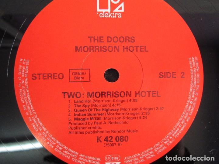 Discos de vinilo: THE DOORS. MORRISON HOTEL. LP VINILO. ELEKTRA RECORDS 1973. VER FOTOGRAFIAS - Foto 6 - 112658947