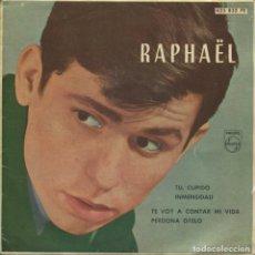 Discos de vinilo: RAPHAEL / TU, CUPIDO + 3 (EP PHILLIPS 1962). Lote 112685455