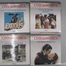 COLECCION BANDAS SONORAS 60 DISCOS NUEVOS Y CUATRO VOLUMENES DE CINE Y MUSICA COLECCION COMPLETA