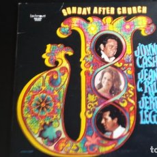 Discos de vinilo: LP JOHNNY CASH, JEANNIE CRILEY, JERRY LEE LEWIS: SUNDAY AFTER CHURCH (EDIC. CANADA 1971). Lote 112701691