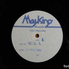 Discos de vinilo: MAYKING RECORDS LTD TEST PRESSING. Nº CAT RIB 3. 27 MARS 1985. MAXI SINGLE UK. Lote 112706371